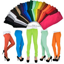 Skinny Colorful Jeggings Stretchy Sexy Pants Soft Leggings Pencil Tights Zipper