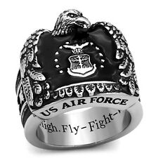 Isady - US Air Force John - Chevalière Bague homme - Acier inoxydable - Email No