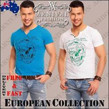 NEW MEN'S V NECK T SHIRTS FOR MEN CASUAL FASHION CLOTHING MENS SHORT SLEEVE TOP
