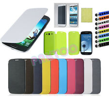 PU Flip Leather Luxury Case Cover For Samsung Galaxy S3 S III i9300 -9 color In