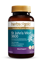 HERBS OF GOLD  -ST JOHNS WORT 3600 EXTRA STRENGTH - STRESS AND ANXIETY RELIEF