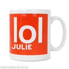 NEW PERSONALISED MUG CHOOSE FROM DESIGN FROM OMG - WTF or LOL & CHOOSE ANY NAME