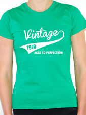 VINTAGE 1970 AGED TO PERFECTION -Birth Year/Birthday Gift Themed Women's T-Shirt