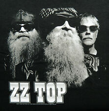 """New! ZZ Top """"B&W Photo 2012 Tour"""" Classic Rock Licensed Concert Adult T-Shirt"""