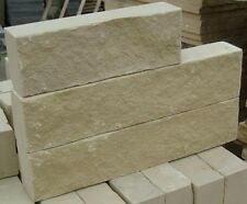 Buff Beige Split Face Sandstone Walling - 4 sizes - PRICE IS PER M2