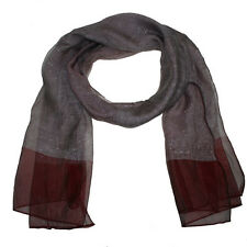 Scarf with twin weave silver lurex panels - 2 colours red or black - BNIP (858)