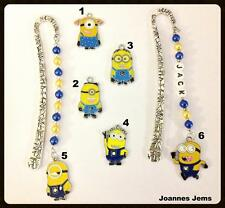 DESPICABLE ME BOOKMARK, CHOICE OF MINION  - PERSONALISED or PLAIN