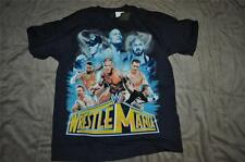 WWE Wrestle Mania Boys T-Shirt Blue Cena/The Rock/CM Punk/Rayback/Sheamus NWT