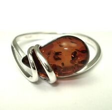 BALTIC AMBER STERLING SILVER 925 RING BESTGEMS7 R18