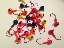 25 Pack 3/8oz Round Head Floating Jigs Matzuo Sickle 2/0 Red Hooks Free Shipping
