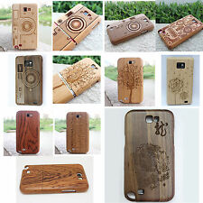 100% Real Wood Hard Bamboo Case Cover for Samsung Galaxy S 2 NOTE II N7100 i9100