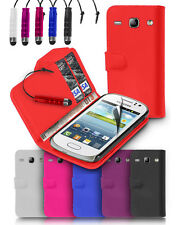 WALLET LEATHER CASE COVER FOR SAMSUNG GALAXY FAME S6810 + FREE SCREEN PROTECTOR
