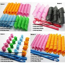 SALON Magic Hair Styling Long Spiral Leverag Roller ROLLERS CURLERS 12/18/20Pcs