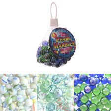 Net bag of 50 glass Marbles, assorted styles - party bag toy