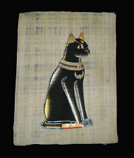 Egyptian Papyrus genuine hand painted Bastet