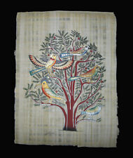 Egyptian Papyrus genuine hand painted Birds on an Acacia Tree