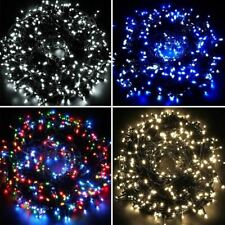 Waterproof Fairy Lights 100 /200 /300 LED WHITE Outdoor Christmas Tree Wedding
