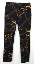 Women Ralph Lauren Jeans Polo Equestrian Bridle Skinny Hors Riding Pants 16 18