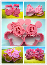 Hot Sell GIFT Disney Cookie Cutter Fondant Cake Sugarcraft Cartoon Stamp Molds