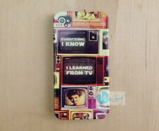 Everything I know learned from TV Vintage Hard Back Cover Case iPhone 5 5s 4 4S