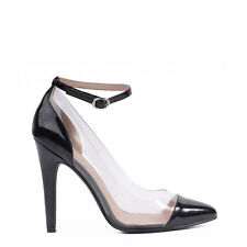 """WOMEN SHOES""""EDEN""""BY VERALI STUNNING HIGH HEEL PUMPS IN BLACK PATENT PU 5to10"""