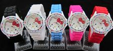 2013! HOT (1pcs) Hellokitty Girls Ladies Women's Jelly Silicone Wrist Watch