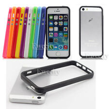 Color Frame Hard Rubber Bumper Cases For Apple iPhone 5 5G 5S + Screen Protector