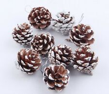 Lot of 6 Christmas Xmas Tree Hanging Pendants Decor Santa Pine Cone Ornaments