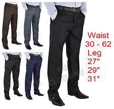"Mens Big Size Casual/Formal Trousers/Pants Waist 30-62 Leg Length 27""29"" 31"""