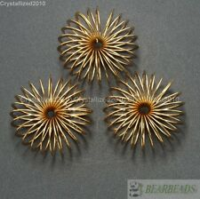 10pcs Champagne Gold Large Mesh Bling Rondelle Spring Free Spacer Beads Pick