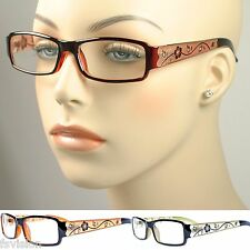 Womens Flower Floral Rhinestone Optical Frame Glasses Guess Persol  Polo Style