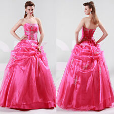 Wedding Quinceanera Ball Gown Prom Bridesmaid Bridal Evening Party Dress Sz 2-16