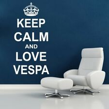 KEEP CALM wall sticker vespa bedroom decal quote mural stickers vinyl art decor