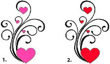 Waterslide Heart Nail Decals Set of 20 - Hearts Scrolls & Swirls - you choose