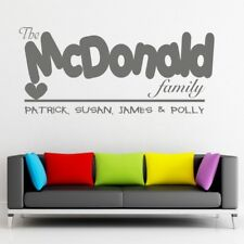 FAMILY Wall Quote home name stickers decal quotes life begins stickers art�vinyl