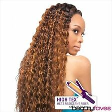 GISELLE BY OUTRE QUICK WEAVE SYNTHETIC HIGH TEX FIBER LONG CURLY HALF WIG