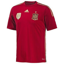 adidas Spain World Cup WC 2014 Home Soccer Jersey Brand New Red / Gold