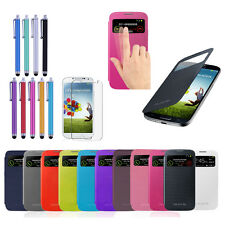 New S-VIEW Slim Plastic Flip Smart Case Cover For Samsung GALAXY SIV S4 I9500