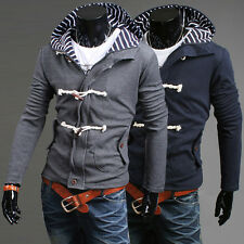 Fashion Men's New Sweaters Slim Fit Warm Casual Hoodies Hooded Coat Outer XS~ L