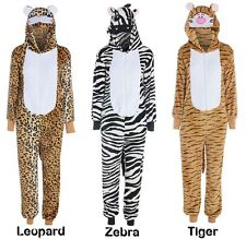 Animal Unisex Hooded Zip Onesie All In One Piece Jumpsuit Fancy Dress Costume