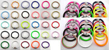 HOT Leather Wrap Wristband Cuff Punk Magnetic Rhinestone Buckle Bracelet Bangle