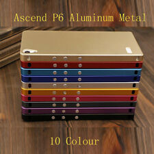 Luxury Aluminum Metal Hard Cover Back Case For Huawei Ascend P6