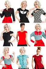 NEW VOODOO VIXEN TOPS SHIRTS BLOUSES VINTAGE ROCKABILLY RETRO 50S PIN UP GOTH