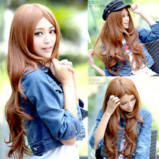 fashion sexy parted bang full wigs sexy womens curly wavy long hair cosplay wig