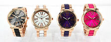 Sexy Ladies Rose Gold Watch NY London With White Purple Pink & Black Colour Band