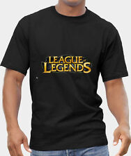 LOL LEAGUE OF LEGENDS 2 T-SHIRT MENS BLACK FRUIT OF THE LOOM HIGH QUALITY DTG