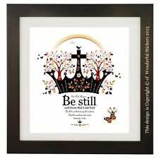 Psalm 46 v 10, Bible Verse Quote, Be Still and Know, Christian Gift, Art Print