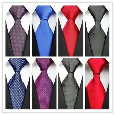 COM25 Black Blue Red Black Purple Pure Polka Dot Classic Silk Men's Tie Necktie