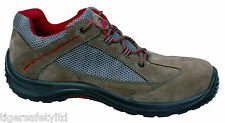 Delta Plus Panoply Viagi S1P Brown Red Suede Mens Safety Toe Cap Safety Trainers