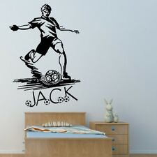 PERSONALISED FOOTBALL wall art sticker large giant childrens bedroom decal vinyl